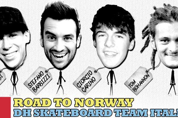 team italia downhill skateboard mondiale norvegia