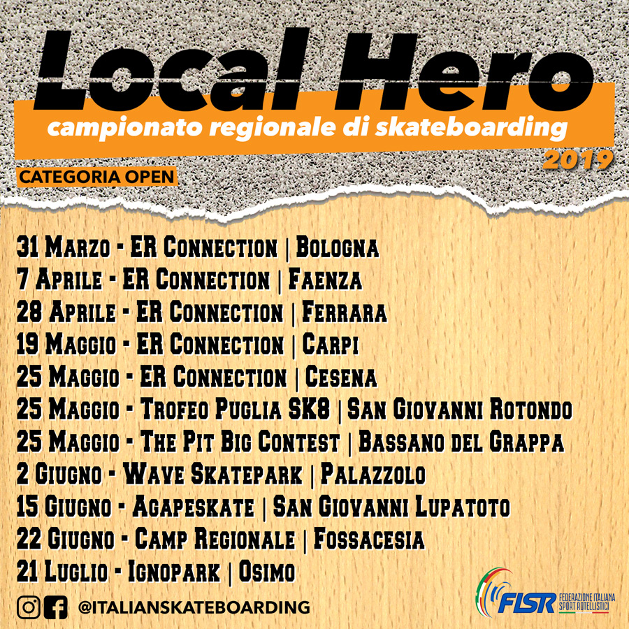 Le date ufficiali dei circuiti regionali Local Hero.