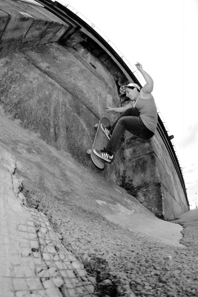 Wallride to fakie - ph. Valentina Mazzanti