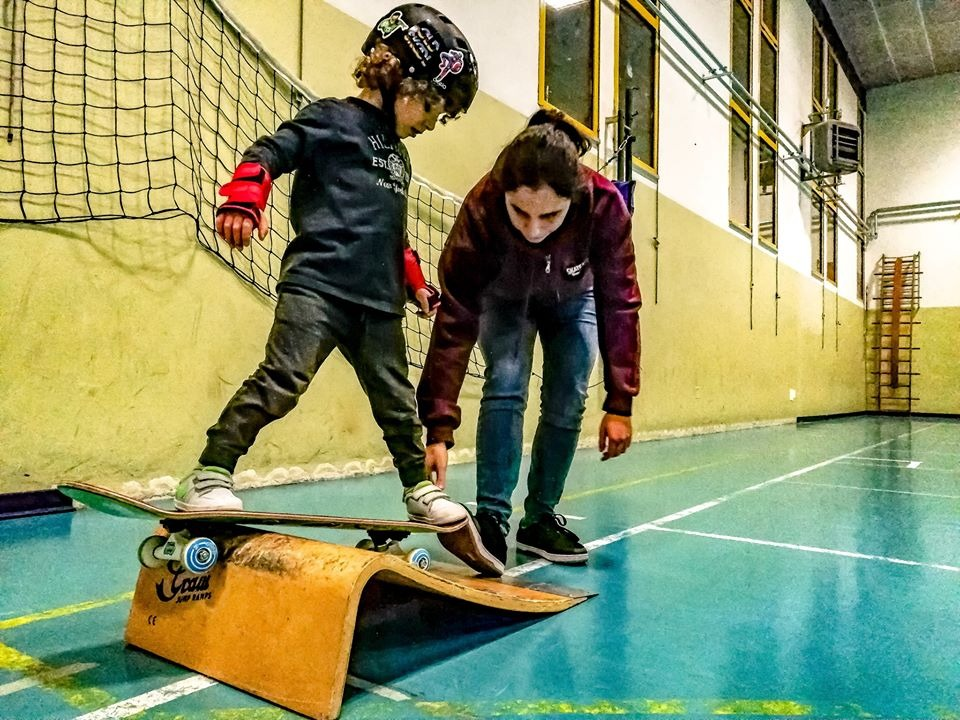 Martina Piredda skate lesson