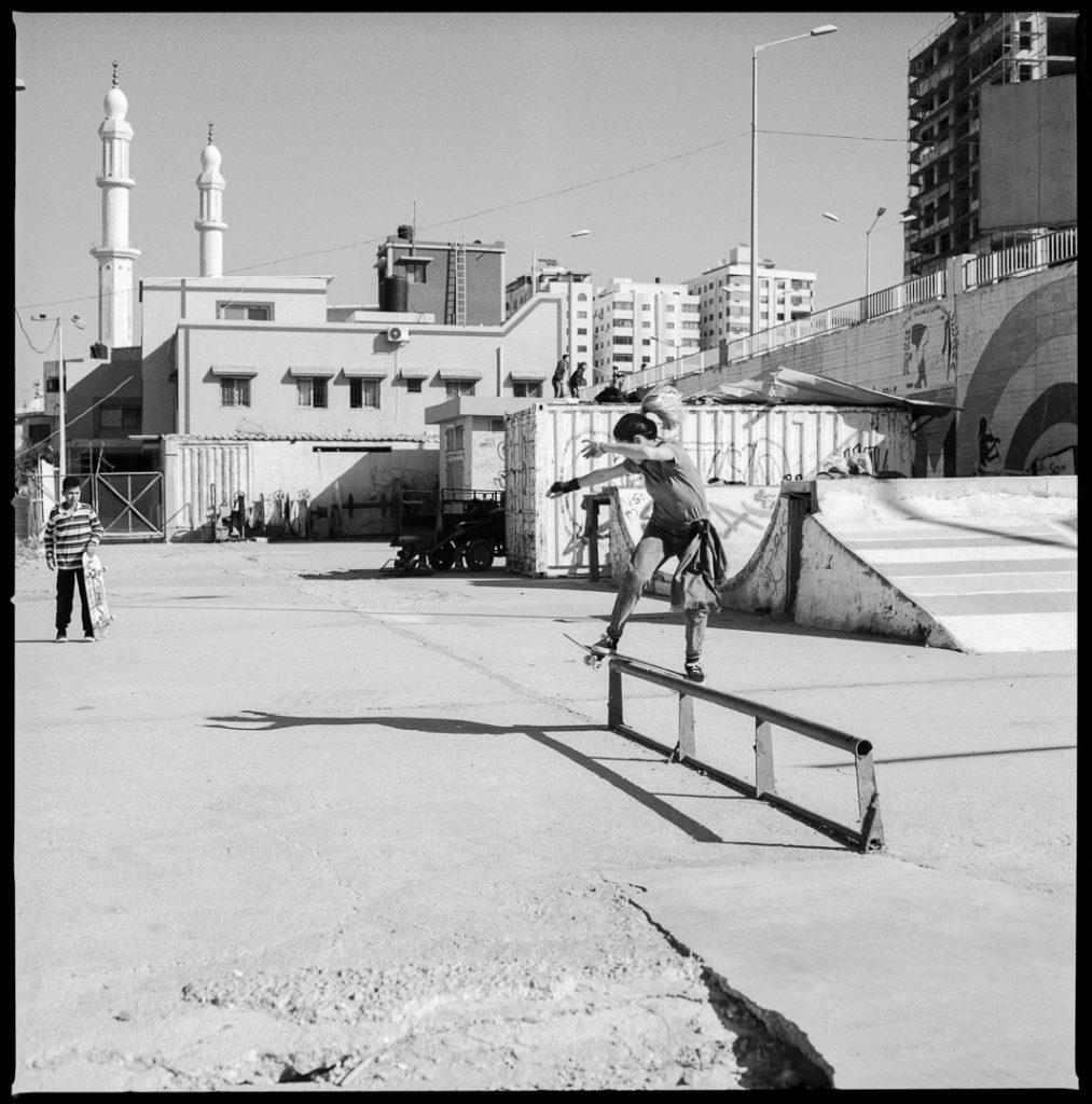 Marta Pruni skatea a Gaza