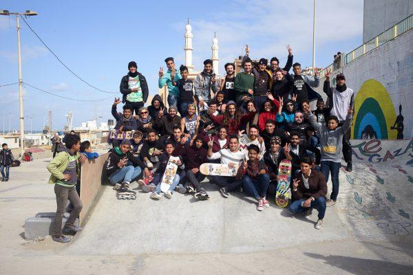 Skateboarding a Gaza