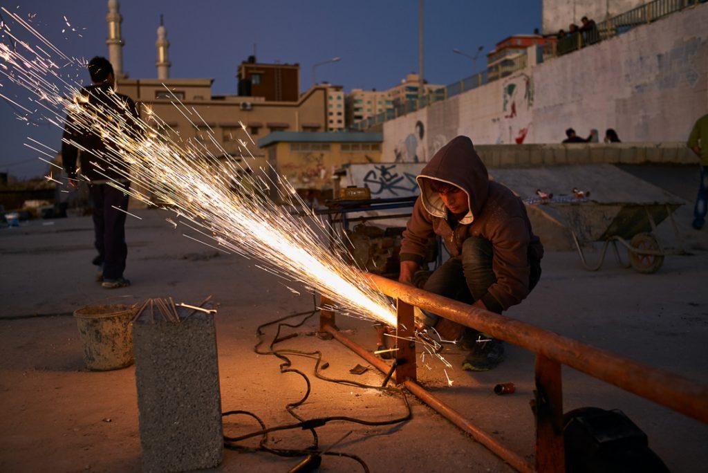 Lavori al park di Gaza - ph. Andrè Lucat