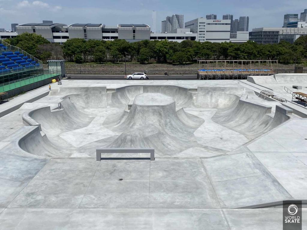 L'area Park dello skatepark di Tokyo 2020